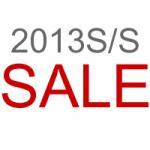 2013S/S SALE INFO